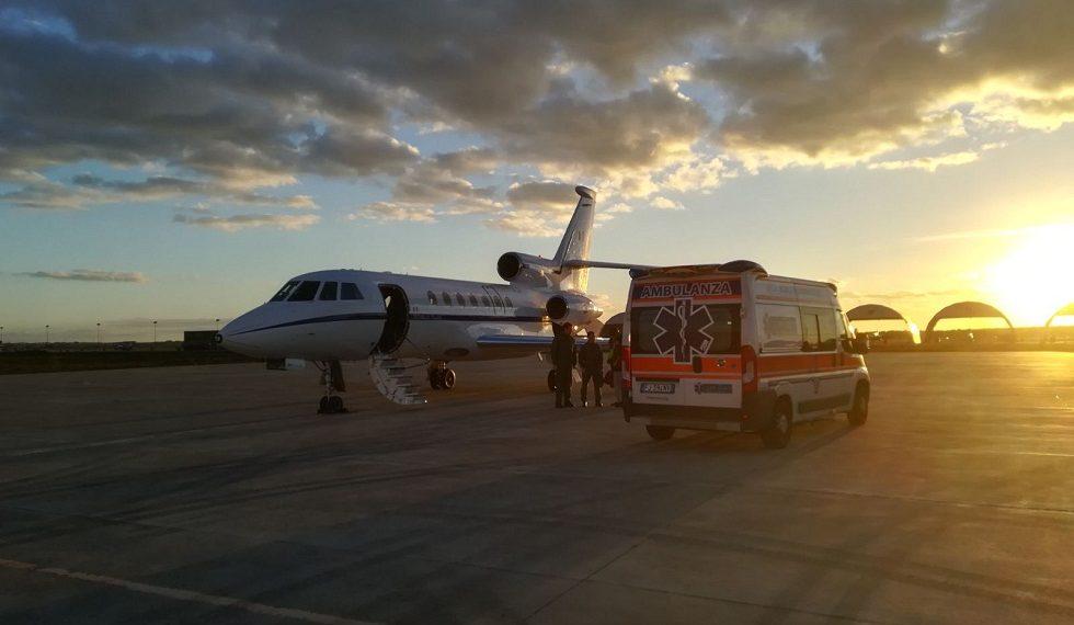 Trasporto neonatale puglia-roma (foto Aeronautica Militare)