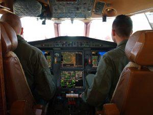 La cabina di pilotaggio del Falcon 900